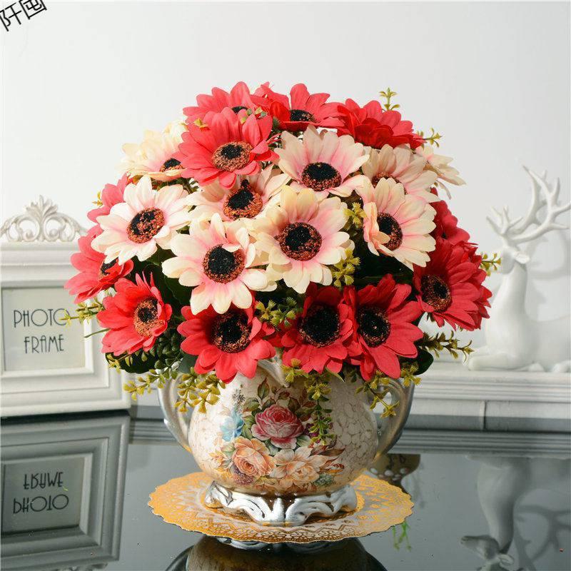 Bình hoa cúc lụa (BHCS12)
