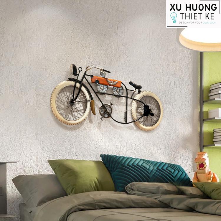 Mô hình xe máy cổ điển treo tường