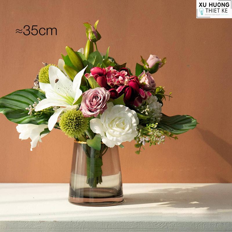 Bình hoa hồng lụa (BHCS02)