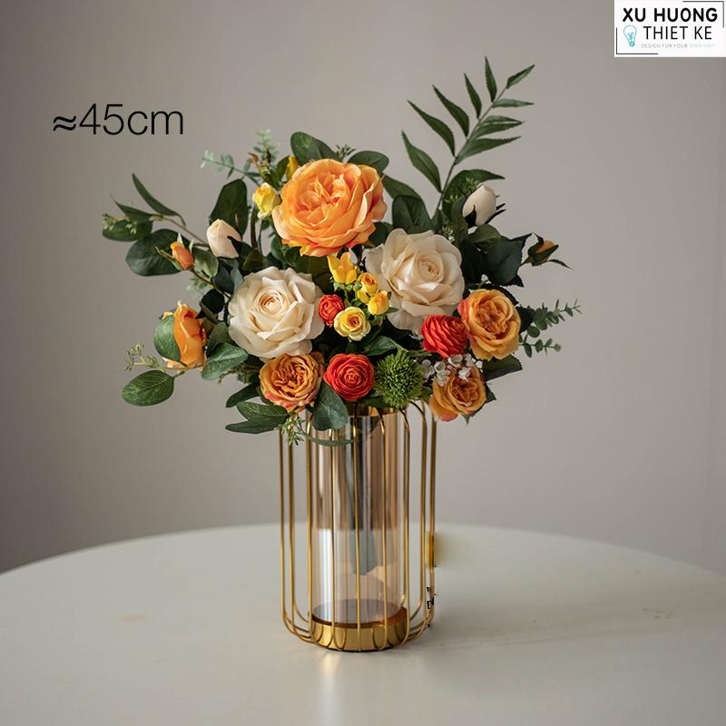 Bình hoa hồng lụa (BHCS05)