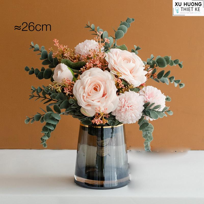 Bình hoa hồng lụa (BHCS06)