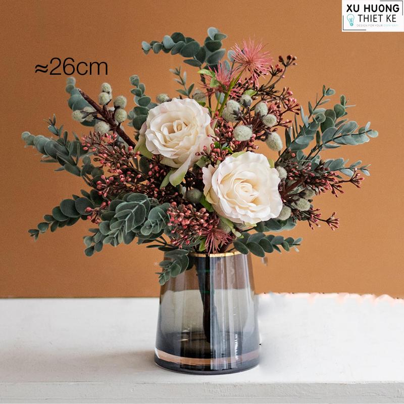 Bình hoa cúc xanh pastel (BHCS07)