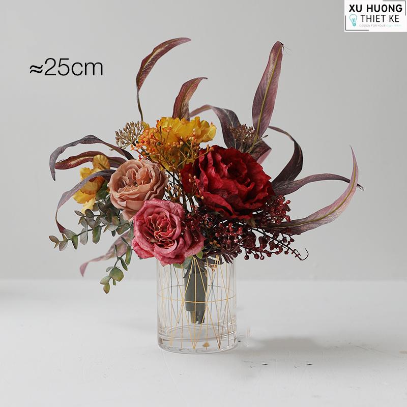 Bình hoa cúc tím pastel (BHCS08)
